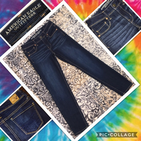 AMERICAN EAGLE OUTFITTERS NWOT SUPER SKINNY SIZE 0